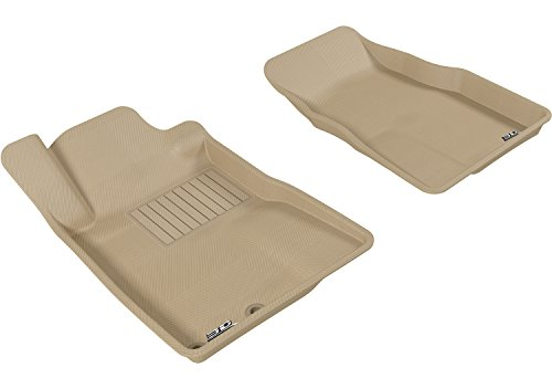 3D MAXpider All-Weather Floor Mats for Ford Mustang 2005-2009 Custom Fit Car Floor Liners, Kagu Series (1st Row, Tan)