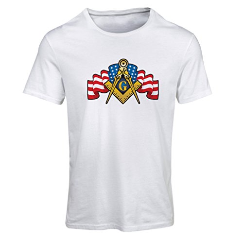 T Shirts For Women USA Flag G gnosisl Square and Compass Logo Freemason accessories (XX-Large White Multi - T-shirt Terrier History