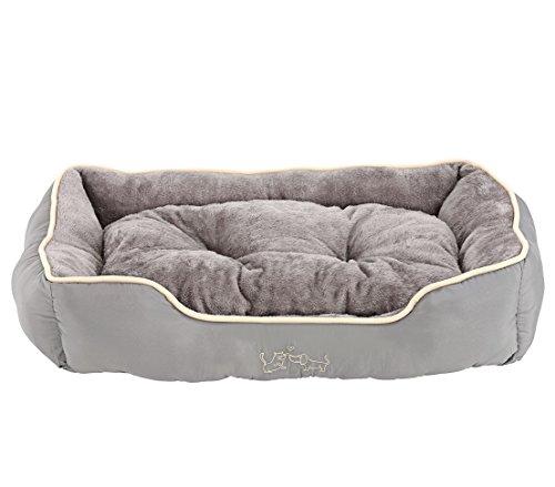 Dehner Sammy Dog and Cat Bed 90 x 70 x 20 cm Polyester Grey