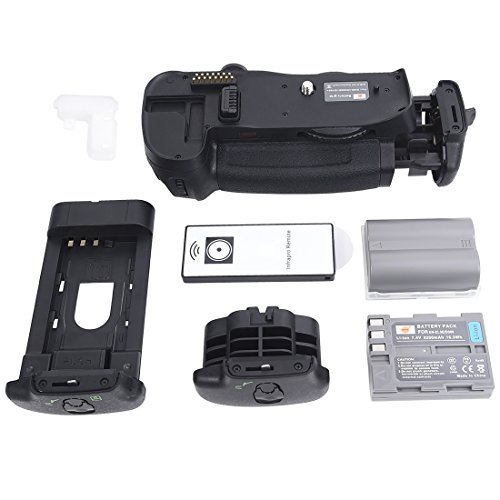 DSTE Replacement for Pro IR Remote MB-D10 Vertical Battery Grip + 2X EN-EL3E Compatible Nikon D300 D300S D700 D900 SLR Digital Camera ()