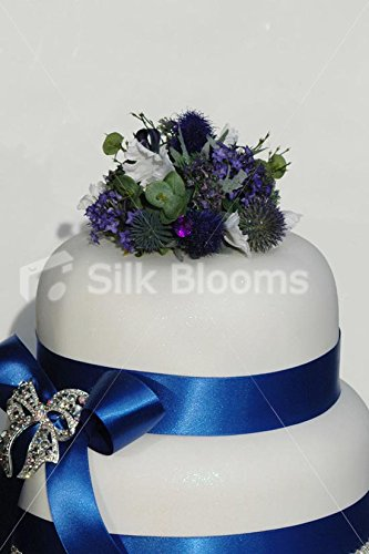 Thistle And Frilly Tulip Artificial Scottish Wedding Cake Topper