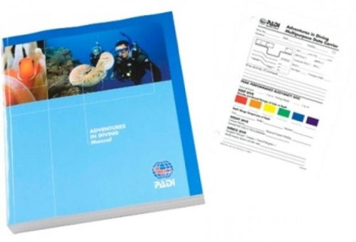 PADI Adventures in Diving Book and Slate Training Materials for Scuba Divers 70014