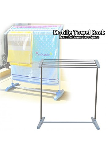 Orpio Stainless Steel Portable Floor Clothes Drying Rack Dryer