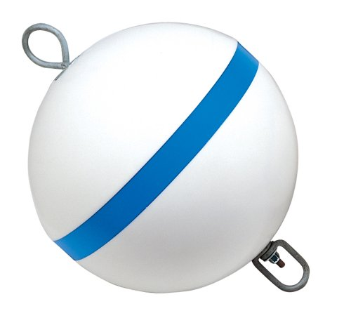 Taylor Made Products 22170, Sur-Moor Traditional Boat Mooring Buoy, Blue Stripe, 12 inch