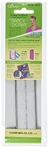 Clover Fuse'N Bind Fusible Binding Tape, 1/2-Inch, 2-Yard - Clover Nastro