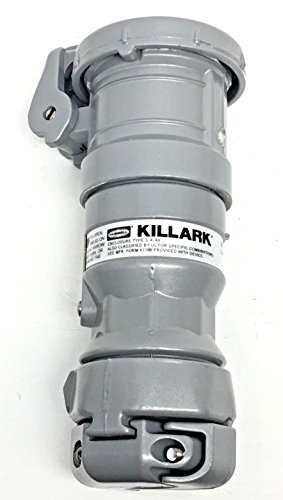 Killark VPR3455 Pin and Sleeve Connector, 4 Wire, 4 Pole, 30 Amp, 600V, Copper-Free Aluminum