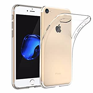 [Support Wireless Charging] iPhone 7 / iPhone 8 Case, EasyAcc Soft TPU Case Crystal Clear Transparent Slim Anti Slip Case Back Protector Cover Shockproof for iPhone 7 / iPhone 8