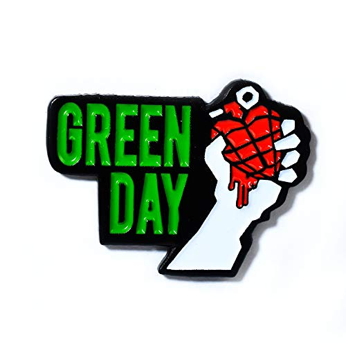 (Green Day American Idiot Heart Grenade Collectible Pendant Lapel Hat Pin)