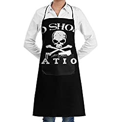 Jtlcbc No Shoes Nation Adjustable Bib Chef Pockets And Extra Long Ties Kitchen Apron For Cooking Baking Crafting Gardening Bbq Gift