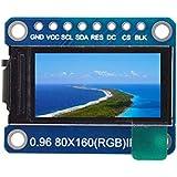 TOOGOO Ips 0.96インチ8ピンSpi Hd 65KフルカラーTftモジュール St7735ドライブIc 80 x 160 LCDディスプレイ3.3V Spiインターフェイス Arduino Diyのために