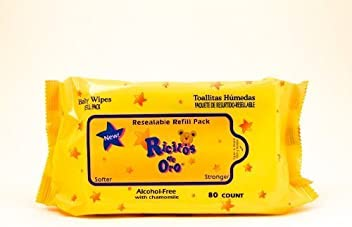 Baby WIPES Ricitos de Oro Grisi 80 Count Chamomile - Hypoallergenic Alcohol Free Model: 0