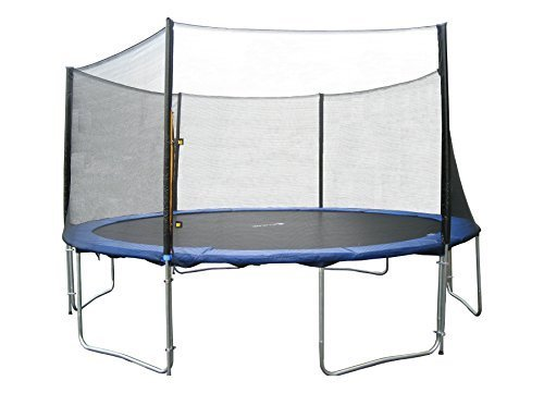 Exacme TUV Approved Trampoline with Safety Pad & Enclosure Net & Ladder All-in-One Combo Set, 13'