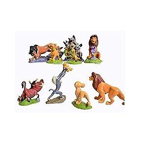 cvvbfgbfg 9pcs cake topper The Lions King Figures Cake Topper One Set Size 5-9cm cake decoration