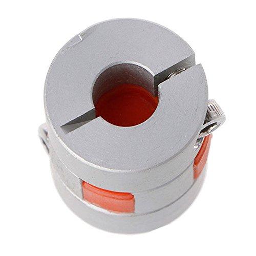 SODIAL 5mm x 8mm x 25mm CNC Schrittmotor Flexible Plum Jaw Wellenkupplung Koppler Neu