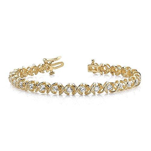 Jewelry Adviser Bracelets 14k Holds 34 1.9mm Stones .95ct Hugs & Kisses Tennis Bracelet Mounting