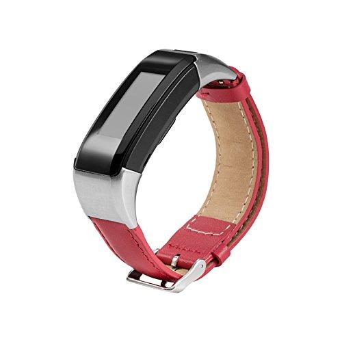 Gosuper Newest luxury leather Sport Replacement Strap for Garmin Vivosmart HR+(NO Vivosmart HR)
