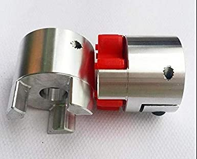 Fevas BF 14mm x 14mm CNC Flexible Plum Coupling Shaft Coupler D30 L42