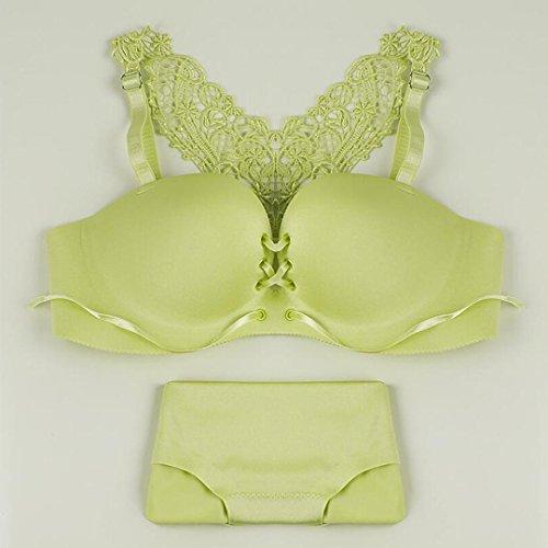 Heart&M Soutien-gorge dos deux pièces modèle sous-vêtements de femme , green , 75b