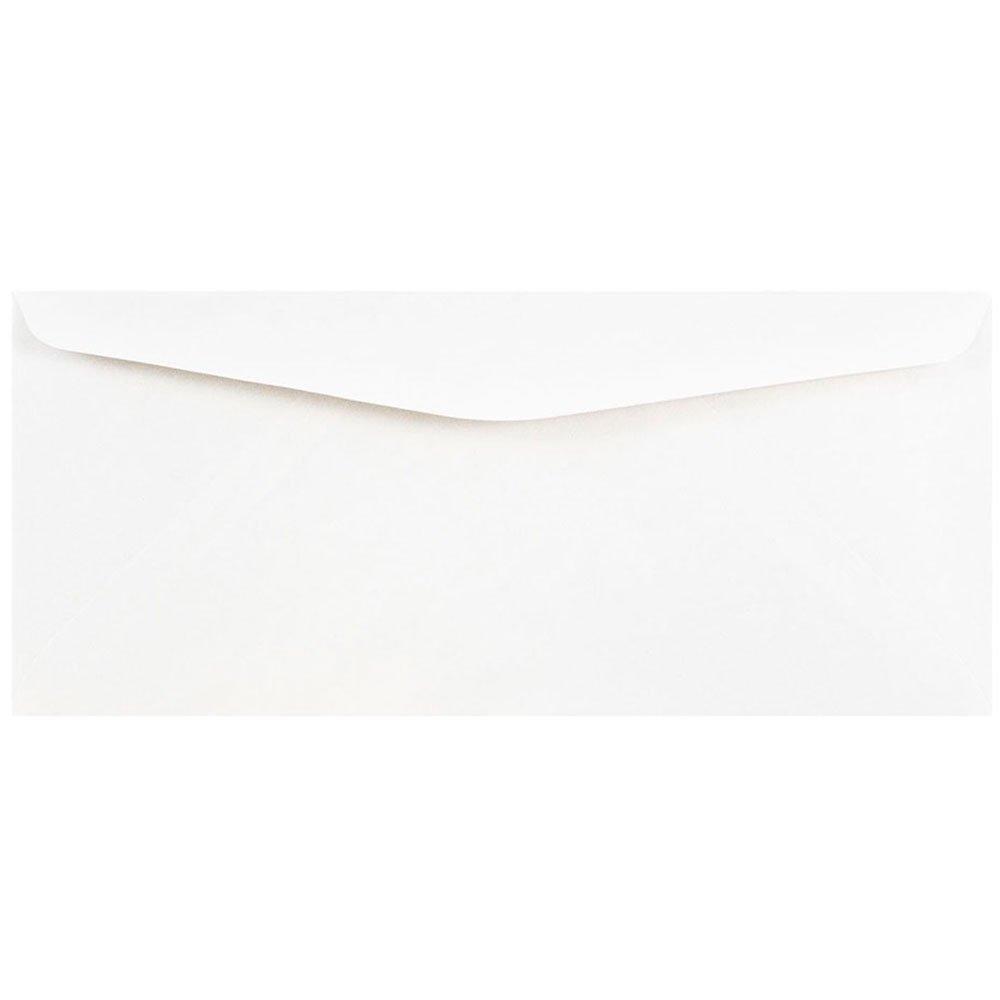JAM Paper® #10 Commercial Style Envelopes - 104.9mm x 241.3 mm (4 1/8 x 9 1/2) - White - 50 Envelopes per Pack