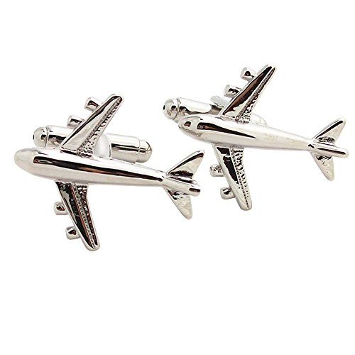 Covink® Jet Aircraft Cuff-links Commercial Jetliner Cuff Airline Airplane Cuff Link for Plane Fans