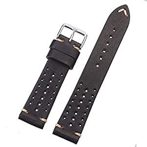 EACHE Special Design Hole Version Handmade Vegetable Tanned Genuine Leather Watch Band Classical Watch Strap