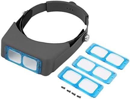 uqiangbao Helmet Type Magnifying Glass Double Lens Head Wearing Magnifier Precise Device Enhancing Eyesight Improving Efficiency