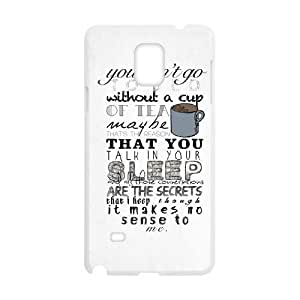 wugdiy DIY Case Cover for Samsung Galaxy Note 4 with Customized One Direction Quotes