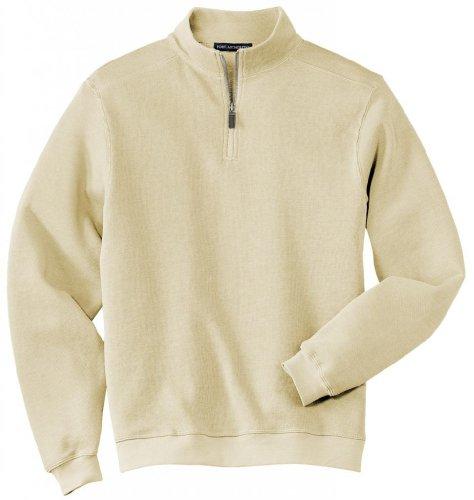 Port Authority®- Flatback Rib 1/4-Zip Pullover, Ivory, 4XL