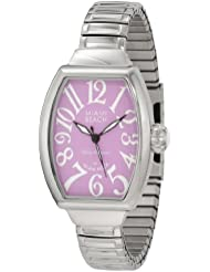 Glam Rock Womens MBD27138 Miami Beach Art Deco Purple Dial Stainless Steel Watch