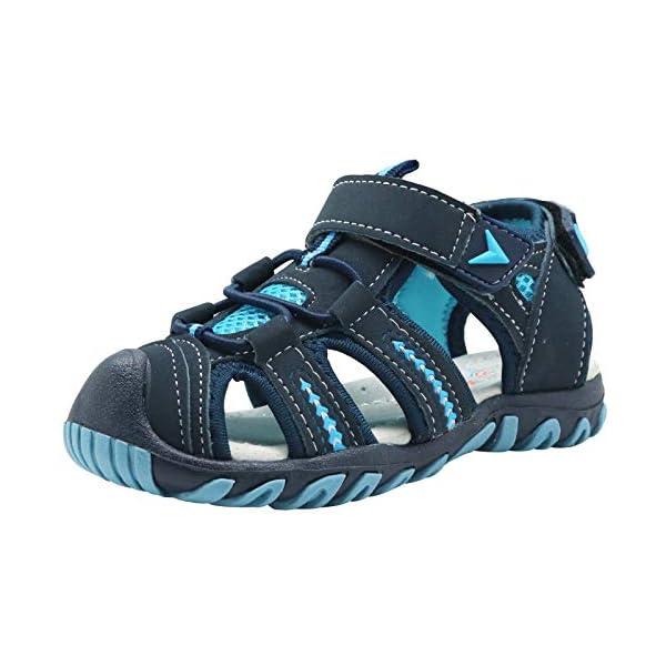 Apakowa Kid's Boy's Soft Sole Close Toe Sport Beach Sandals (Toddler/Little Kid)