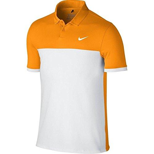 Nike Men's Icon Colour Block Polo Shirt Orange / White eQ4n75