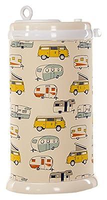Glenna Jean Happy Camper Ubbi Diaper Pail Cover, Yellow Chevron