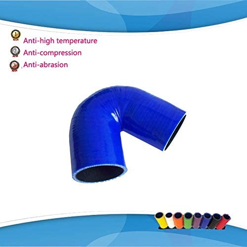 48mm Blue 180 Degree Silicone Elbow Hose