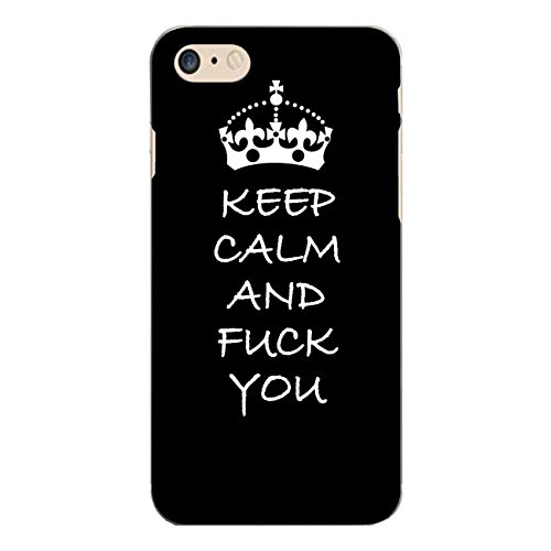 "Disagu Design Case Coque pour Apple iPhone 7 Housse etui coque pochette ""KEEP CALM AND FUCK YOU"""