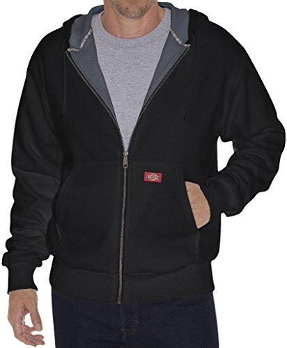 Dickies Thermal-Lined Hooded Zip Fleece Jacket BLACK 4XL #943