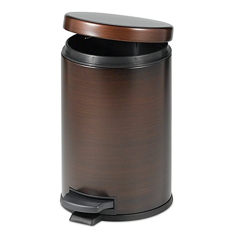 India Ink Step-On Bathroom Wastebasket in Oil Rubbed Bronze