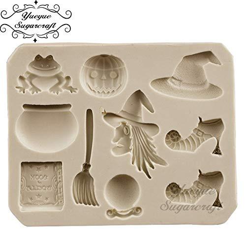 Yueyue Sugarcraft Halloween silicone mold fondant mold cake decorating tools chocolate gumpaste -