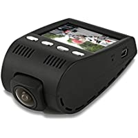 Pyle Dash Cam Car Recorder DVR - 2 Inch Monitor Blackbox Rear Camera View Full Color HD 1080p Video Security Loop Camcorder - PiP Night Vision Audio Record Micro SD & Built-In Microphone (PLDVRCAM30)