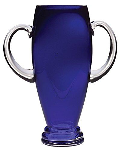 Barski - European Cobalt Glass - Footed Trophy Vase - with Handle - 12