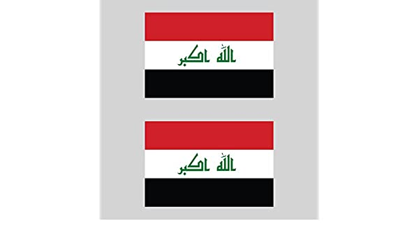 fagraphix Two Pack IRQ Iraq Country Code Oval Sticker Decal FA Vinyl