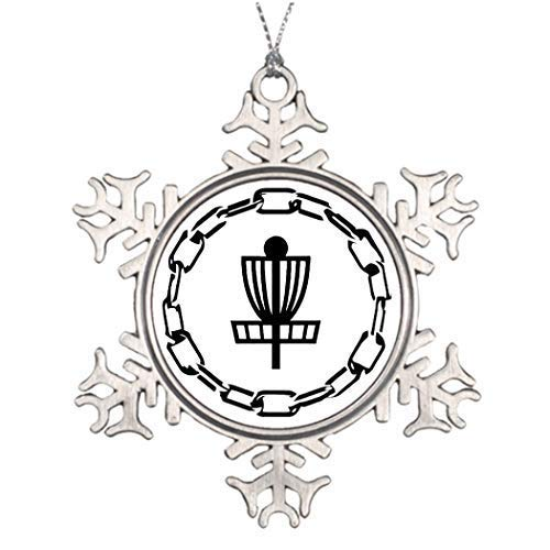 wonbye Christmas Ornaments 2018, Ideas for Decorating Disc Golf Chains Unique Pattern Metal Snowflake Tree -