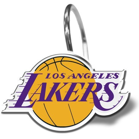 NBA Los Angeles Lakers 12-Piece Shower Curtain Ring Set (LA Lakers) by The Northwest Company