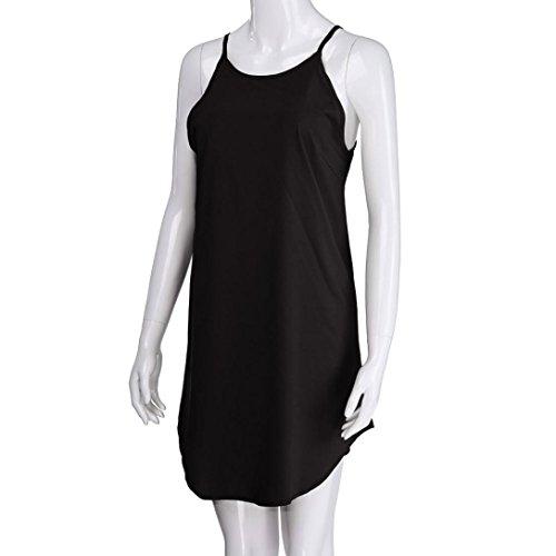 Falda Mujer Playa Transparente Elegante 2018 Negro Corto Mujer Casual Vestido Ansenesna Tirantes Tul Playa Corto Verano 8qcARF76