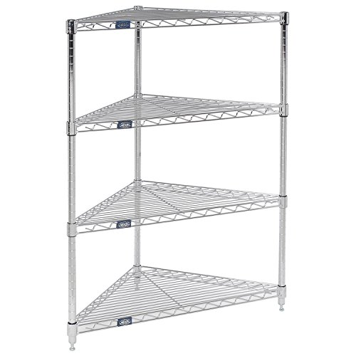 Corner Wire Shelving, 24''W x 18''D x 42''H by Global Industrial