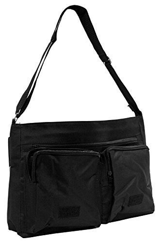 Badger-Stop Badgering Me! Large 16 Black School Laptop Shoulder Bag