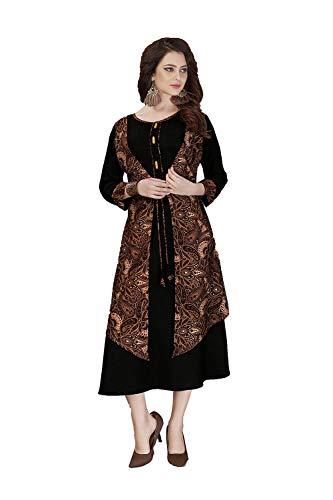 Brown Women Ethnic Indian Traditonal Kurti Partywear Facioun 1 Black Readymade Da Designer OnqwZ7H
