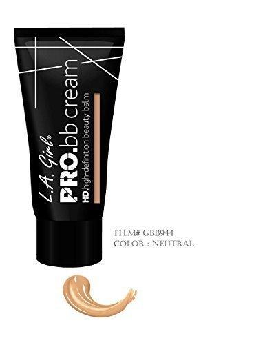Pro Hd High-definition BB Cream with Vitamins B3 C & E. (Color : Neutral) by LA Girl (La Girl Pro Bb Cream)