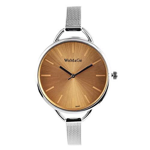 Amazon.com: Women Fashion Alloy Band Round Analog Quartz Wrist Watch Bracelet Bangle: Clothing