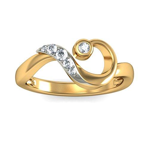 Or jaune 18K, 0.11carat Diamant Blanc (IJ   SI) en diamant