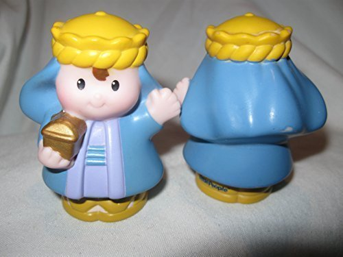 - Fisher Price Little People Three Kings Wisemen Nativity Play Set BLUE WISEMAN OOP 2008